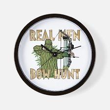Real Men Bow Hunt Wall Clock