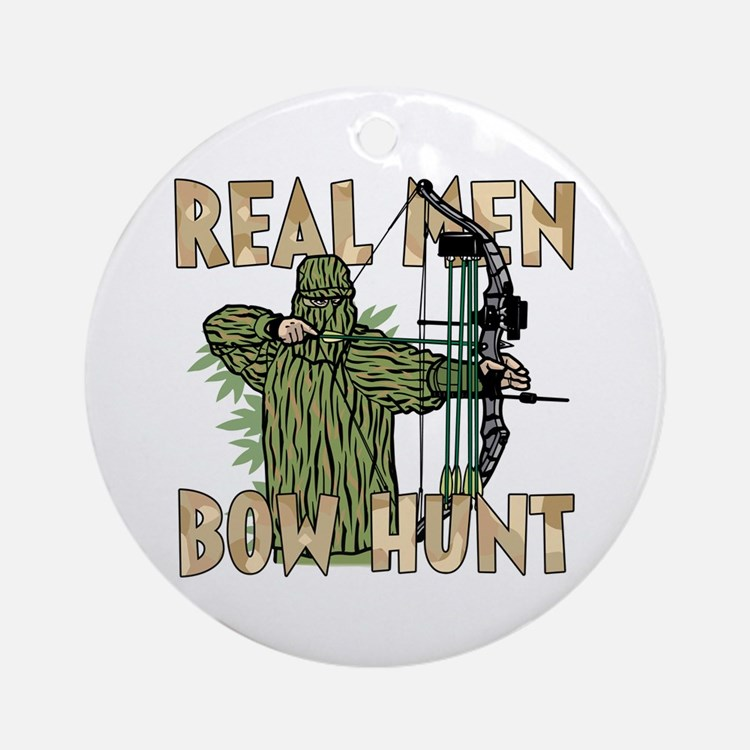 Real Men Bow Hunt Ornament (Round)