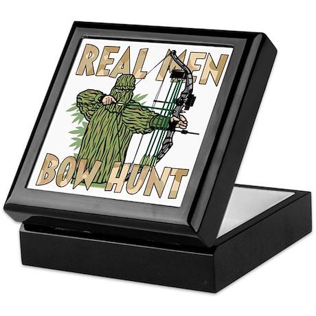 Real Men Bow Hunt Keepsake Box