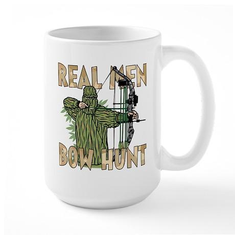 Real Men Bow Hunt Large Mug