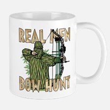 Real Men Bow Hunt Small Small Mug