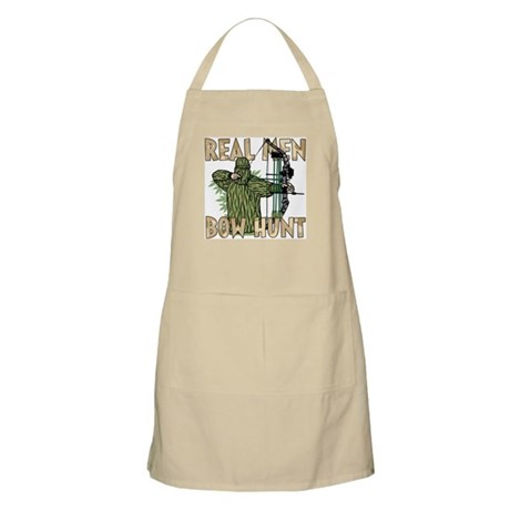 Real Men Bow Hunt BBQ Apron