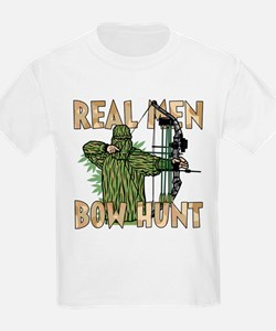 Real Men Bow Hunt Kids T-Shirt