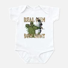 Real Men Bow Hunt Infant Bodysuit