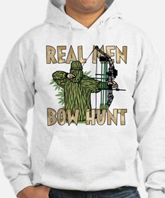 Real Men Bow Hunt Hoodie Sweatshirt