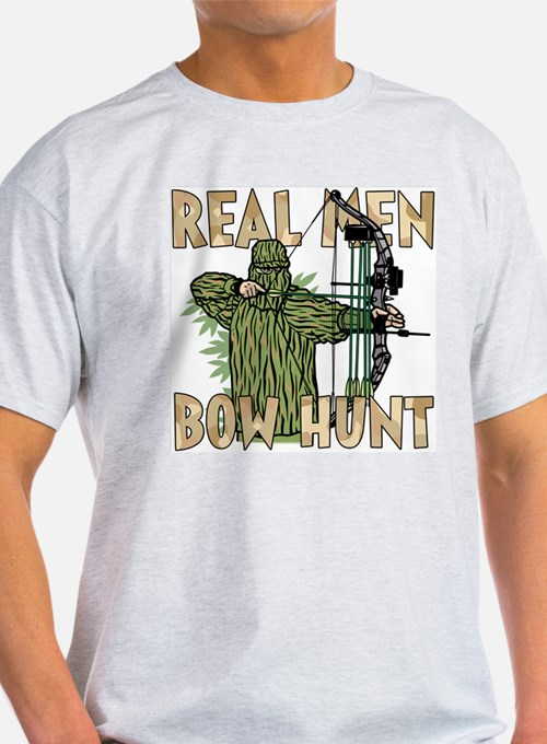 Real Men Bow Hunt Ash Grey T-Shirt