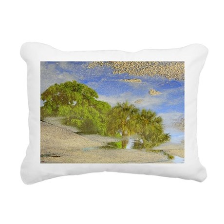 Reflection of Trees in P Rectangular Canvas Pillow