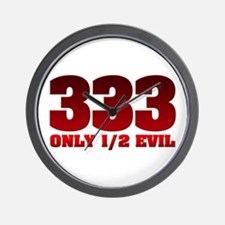 333: Only Half Evil Wall Clock
