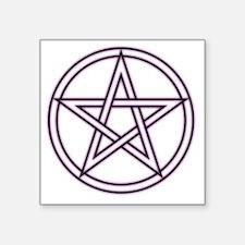 "Purple Pentacle Square Sticker 3"" x 3"""