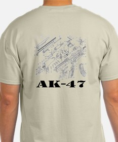AK-47 Life & Diagram - 2 Sided Shirt