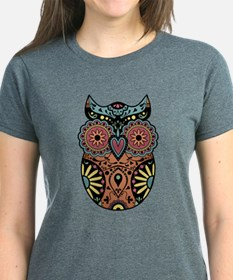 Sugar Skull Owl Color Tee