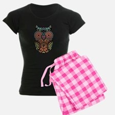 Sugar Skull Owl Color Pajamas