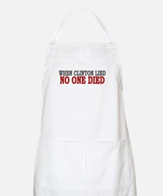 When Clinton lied, no one died (BBQ apron)