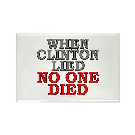 When Clinton lied, no one... (rectangular magnet)