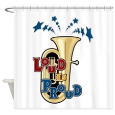 Loud Tuba Shower Curtain
