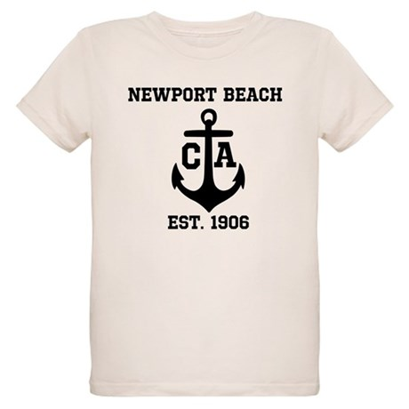 Newport Beach Anchor Design Organic Kids T Shirt Newport