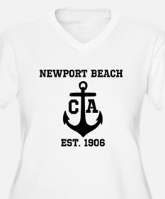 Newport Beach anchor design Plus Size T-Shirt