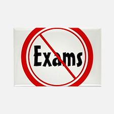 No Exams Rectangle Magnet