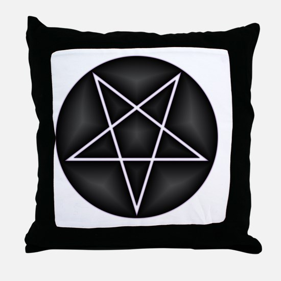 Silver Pentacle Throw Pillow