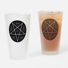 Silver Pentacle Drinking Glass