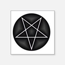 """Silver Pentacle Square Sticker 3"""" x 3"""""""