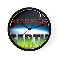 My Religion? Earth. Wall Clock