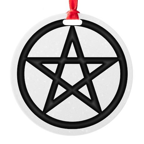 Burning Hot Pentacle Round Ornament