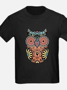 Sugar Skull Owl Color T