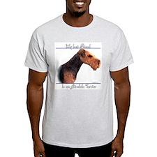 Airedale Best Friend2 Ash Grey T-Shirt