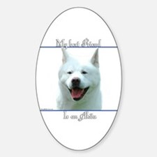 Akita Best Friend2 Oval Decal