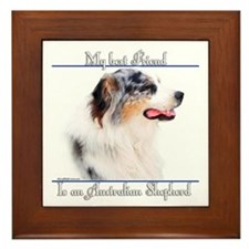 Aussie Best Friend2 Framed Tile
