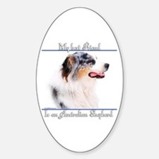 Aussie Best Friend2 Oval Decal