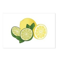 Lemons And Limes Postcards (Package of 8)
