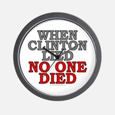 When Clinton lied, no one died (wall clock)