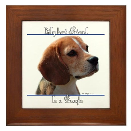 Beagle Best Friend2 Framed Tile