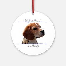 Beagle Best Friend2 Ornament (Round)
