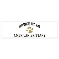 American Brittany: Owned Bumper Bumper Sticker