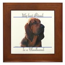 Bloodhound Best Friend2 Framed Tile