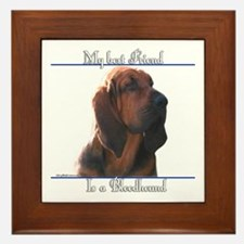 Bloodhound Best Friend2 Framed Tile