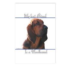 Bloodhound Best Friend2 Postcards (Package of 8)