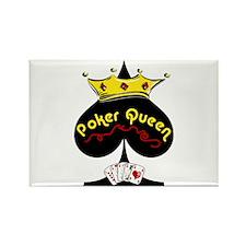 Poker Queen Rectangle Magnet