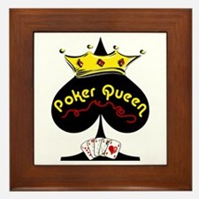 Poker Queen Framed Tile