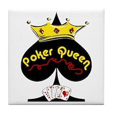 Poker Queen Tile Coaster