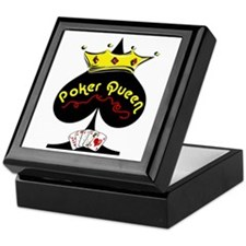 Poker Queen Keepsake Box