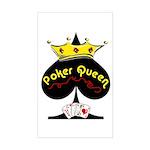 Poker Queen Rectangle Sticker