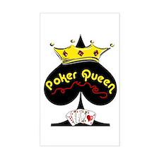 Poker Queen Rectangle Decal