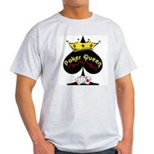 Poker Queen Ash Grey T-Shirt