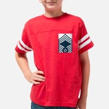 USAF-CMSgt-Blue Youth Football Shirt