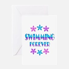Swimming Forever Greeting Card