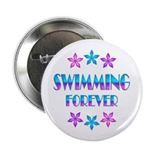 "Swimming Forever 2.25"" Button (10 pack)"